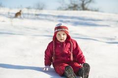 Niño del invierno Imagen de archivo