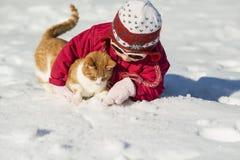 Niño del invierno Imagenes de archivo