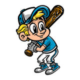 Niño del jugador de béisbol Imagen de archivo