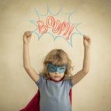 Niño del super héroe Imagen de archivo