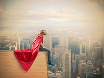 Niño del superhéroe Fotos de archivo libres de regalías