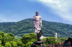 Nio drakar som badar Shakyamuni Wuxi Kina arkivbilder