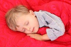 Niño durmiente Fotografía de archivo