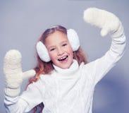 Niño en ropa del invierno Fotografía de archivo