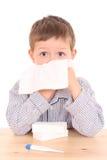 Niño enfermo Fotos de archivo libres de regalías