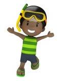 Niño feliz que salta para la alegría Fotografía de archivo