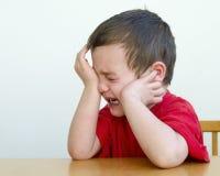 Niño gritador Foto de archivo libre de regalías