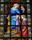 Niño Jesús y Maria Imagenes de archivo