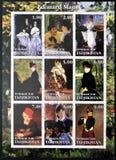 Nio målningar av Edouard Manet Arkivbilder