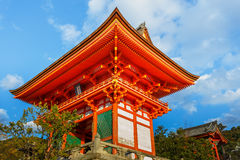 Nio-mon gate at Kiyomizu-dera Temple in Kyoto Royalty Free Stock Photography
