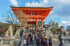 Nio-mon gate at Kiyomizu-dera Temple in Kyoto Stock Photo