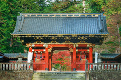 Nio-mon Gate at Taiyuinbyo - the Mausoleum of Tokugawa Iemitsu in Nikko Stock Photos