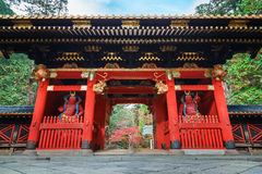 Nio-mon Gate at Taiyuinbyo - the Mausoleum of Tokugawa Iemitsu in Nikko Stock Image