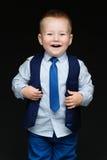 Niño pequeño de la moda en niño de tie Imágenes de archivo libres de regalías