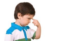 Niño pequeño de pensamiento Imágenes de archivo libres de regalías