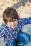 Niño preescolar hermoso Foto de archivo
