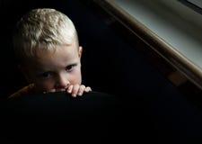 Niño preocupante Imagen de archivo libre de regalías