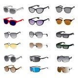 Nio solglasögonstilar stock illustrationer