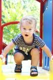 Niño, verano del niño, patio de la primavera Imagenes de archivo
