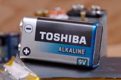 Nio-volt batteri Arkivfoton