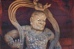 Nio (Welwillende Koningen) bij Daimon-Poort in Koyasan (MT Koya) gebied in Wakayama Royalty-vrije Stock Fotografie