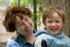 Niño y madre Imagen de archivo libre de regalías