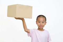 Niño y rectángulo Fotografía de archivo libre de regalías