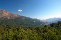 Niolo landscape in corsica Stock Image
