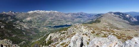 Niolo region Panorama from Capu di u Facciatu Mountain Royalty Free Stock Image