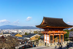 Niomon gate in Kiyomizu-dera temple. Stock Photos