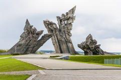 Nionde fortmonument i Kaunas Litauen Royaltyfri Fotografi