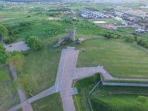 Nionde fortmonumentflygfotografering Arkivbilder