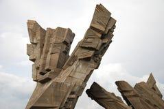 Nionde framåt monument, detalj Royaltyfri Bild