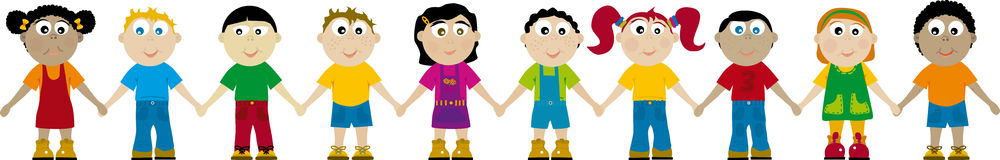 Niños 03 (vector) Fotografía de archivo