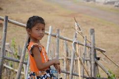 Niños de la situación y del retrato de Laos en Wat Phou Imagenes de archivo