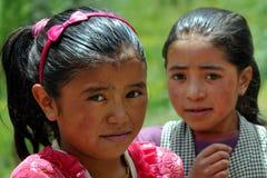 Niños de Ladakh (poco Tíbet), la India Fotografía de archivo