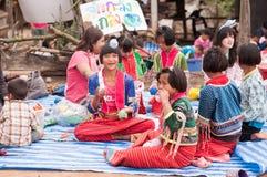 Niños de Palaung Imágenes de archivo libres de regalías