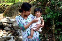 Niños de Toto Tribes Fotografía de archivo libre de regalías
