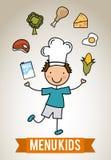 Niños del menú Foto de archivo libre de regalías