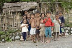 Niños en Laos Imágenes de archivo libres de regalías