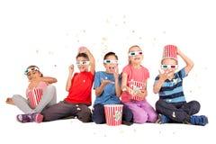 Niños en las películas Fotos de archivo