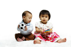 Niños felices Imágenes de archivo libres de regalías