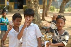 Niños laosianos del hmong Imagen de archivo