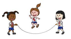 Niños que saltan Fotografía de archivo libre de regalías