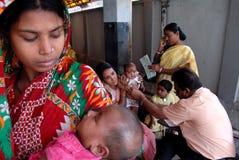 Niños subalimentados en la India Imagenes de archivo