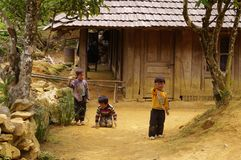 Niños étnicos de Dao Foto de archivo
