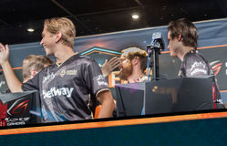 NIP after the Q final win. Team is celebrating after the Q finals win vs NAVI Stock Photo