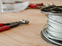 The Nipper and the Cable at the Construction site Royalty Free Stock Images
