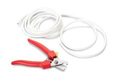 Nippers and cable Stock Photos