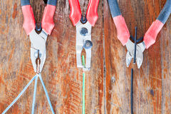 Nippers and dismantle pliers Royalty Free Stock Image